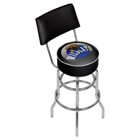 NCAA Kentucky Wildcats Padded Swivel Bar Stool with Back - Honeycomb - image 1 of 3