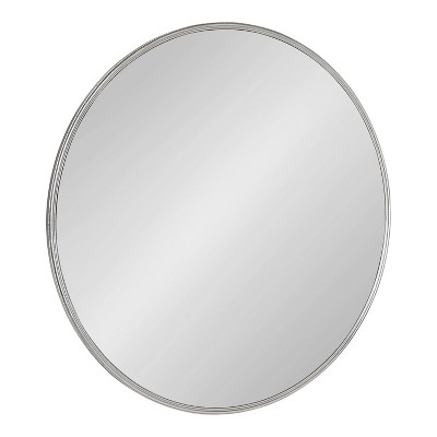 """30"""" Caskill Round Wall Mirror Silver - Kate & Laurel All Things Decor"""