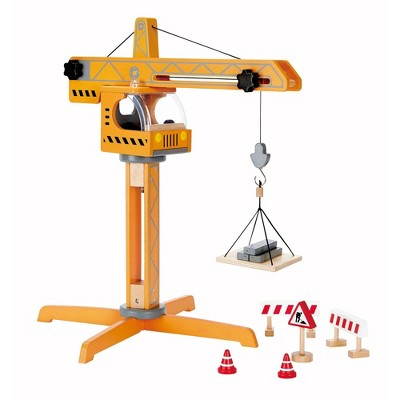 Hape Playscapes Toddler Kids Wooden Toy Construction Site Crane Lift Play Set