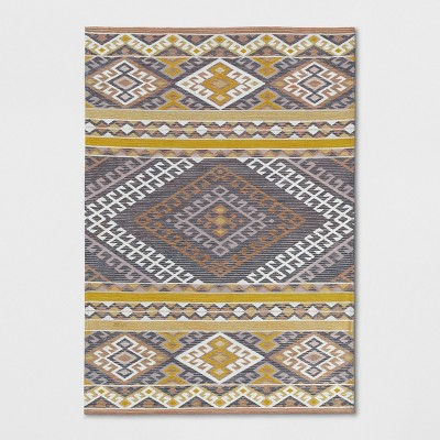 Pink/Orange/Yellow Geometric Woven Area Rug 7'X10' - Opalhouse™
