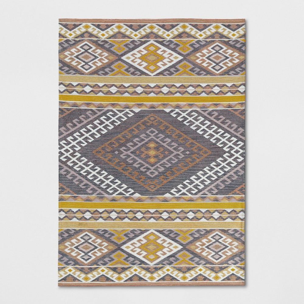 Pink/Orange/Yellow Geometric Woven Area Rug 7'X10' - Opalhouse