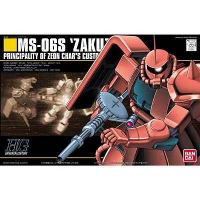 Bandai Hobby Gundam HGUC MS-06S Zaku II Char Custom HG 1/144 Model Kit