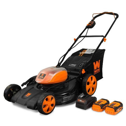 """WEN 40441 40V Max 21"""" Cordless 3-in-1 Lawn Mower With Two Batteries 16gal Bag & Charger - image 1 of 4"""