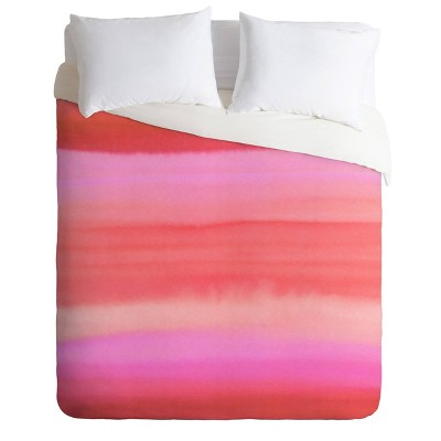 Amy Sia Ombre Watercolor Comforter Set Pink - Deny Designs