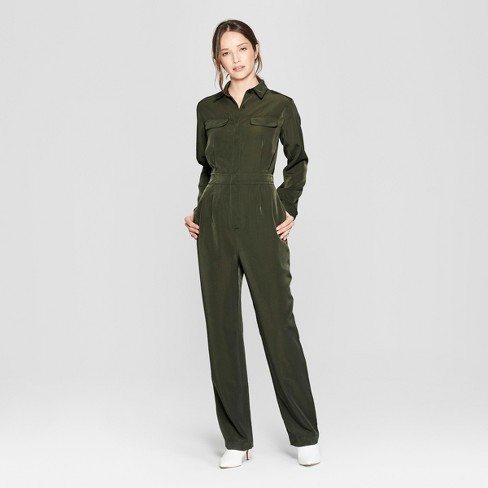 fc3c4929080c Women s Long Sleeve Collared Utility Jumpsuit - Prologue™ Olive   Target