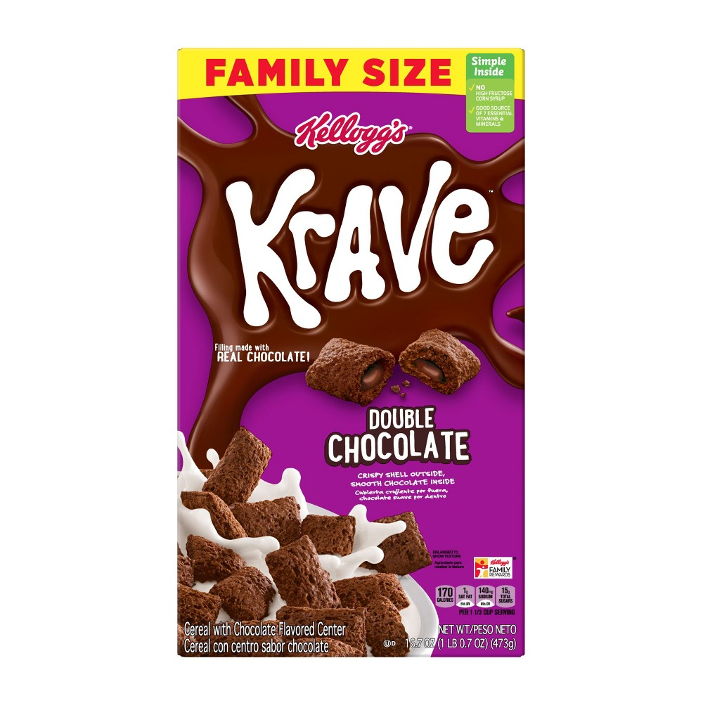 Krave Double Chocolate Breakfast Cereal - 16.7oz - Kellogg's