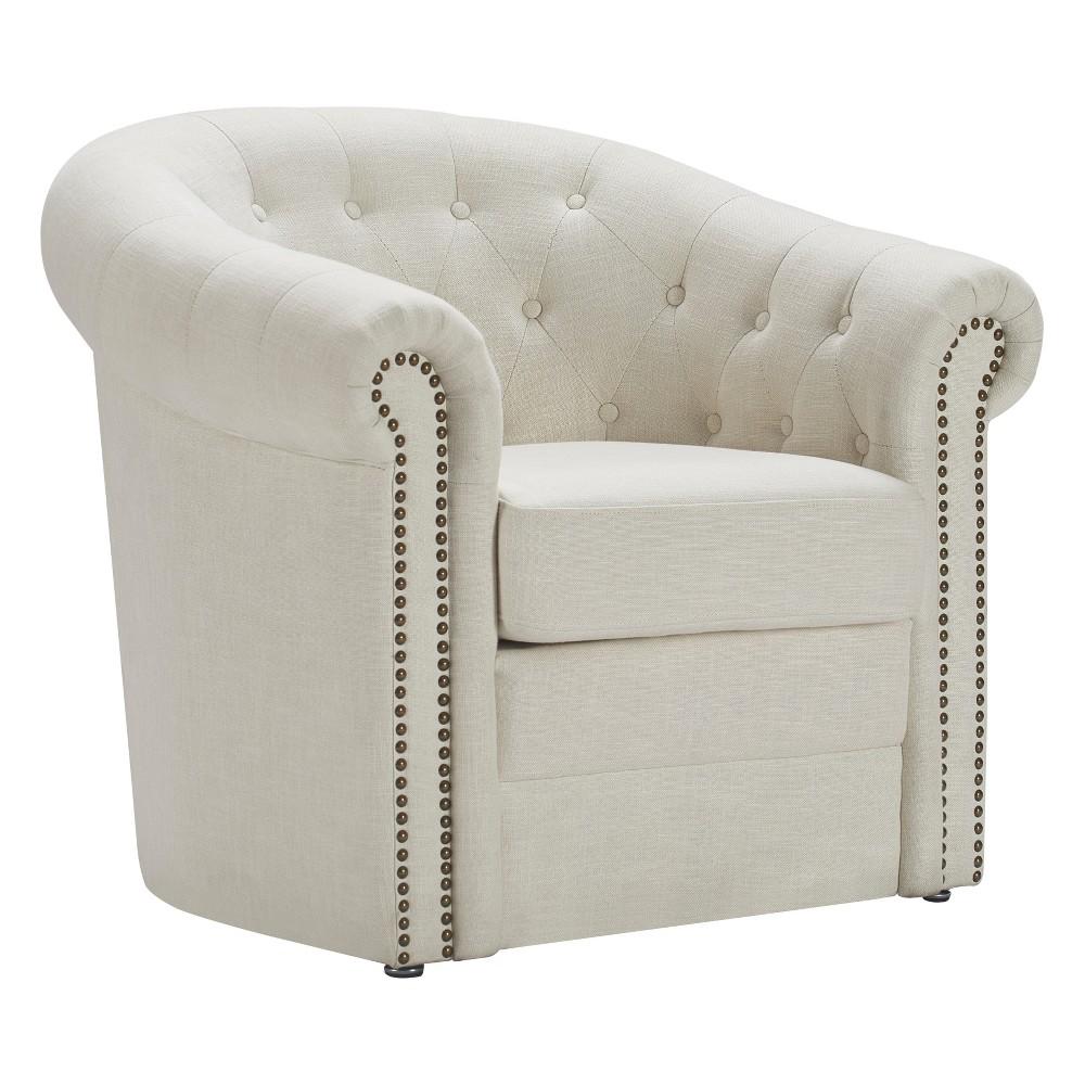 Westport Accent Barrel Chair Ivory Linen - Finch
