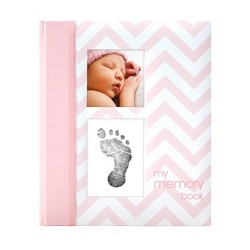 Pearhead Chevron Baby Memory Book - Pink