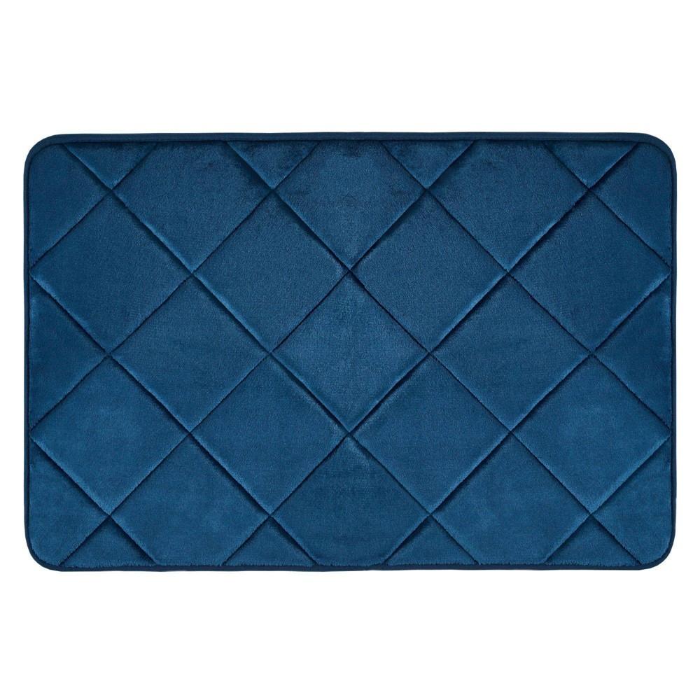 17 34 X24 34 Capri Haven Bath Mat Blue Home Dynamix