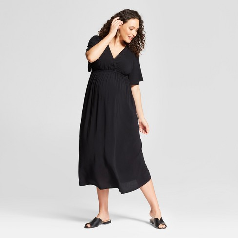 8267457df1a Maternity Woven Wrap Dress - Isabel Maternity By Ingrid   Isabel™ Black    Target