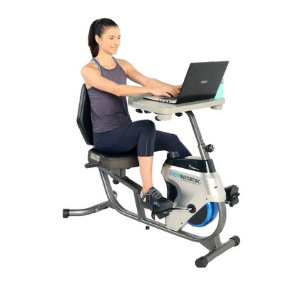 Exerpeutic Exerwork Bluetooth Recumbent Desk Bike