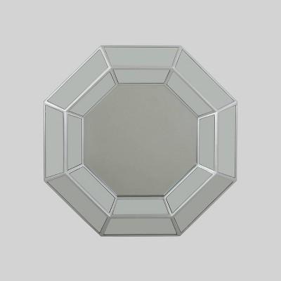 "34"" x 34"" Crider Modern Octagon Mirror Silver - Christopher Knight Home"