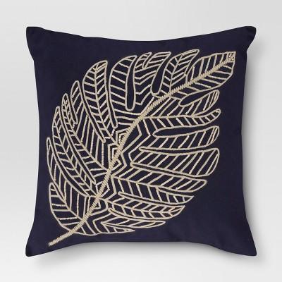 Blue Leaf Throw Pillow - Threshold™