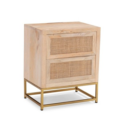 Gordon Two Drawer Cabinet Natural - Powell Company
