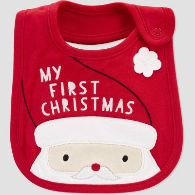 Baby 'My First Christmas' Bib - Just One You® made by carter's Red