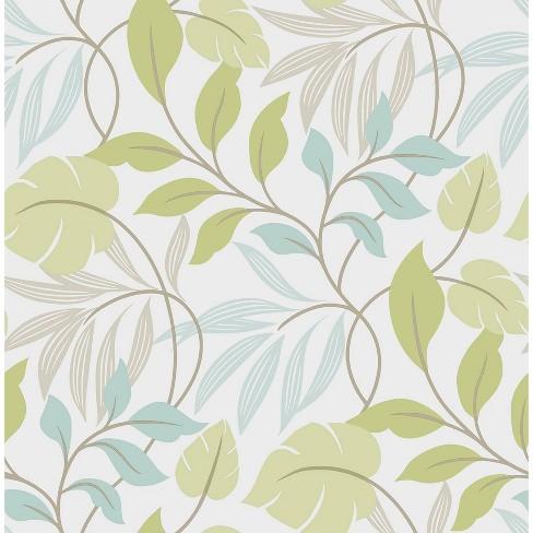 NuWallpaper Meadow Peel & Stick Wallpaper Blue/Green - image 1 of 3