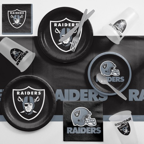 NFL Black And Gray Oakland Raiders Game Day Party Supplies Kit - image 1 of 1