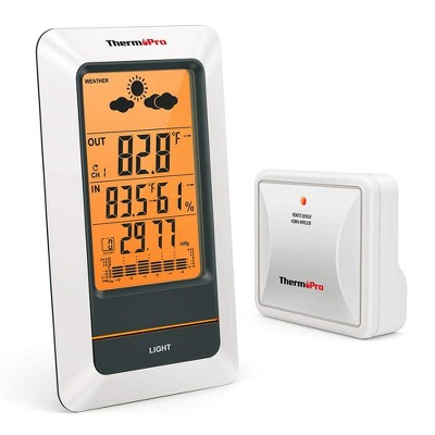 ThermoPro TP67 Weather Station Wireless Indoor Outdoor Thermometer Digital Hygrometer Barometer with Cold-Resistant and Waterproof Temperature Monitor