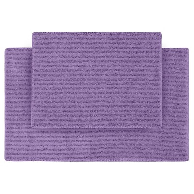 2pc Sheridan Plush Washable Nylon Bath Rug Set - Garland