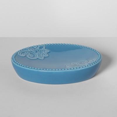 Santorini Ceramic Soap Dish Blue - Opalhouse™