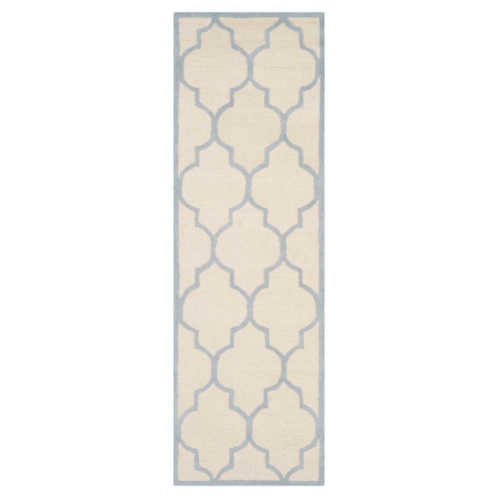 Buy 26X8 Geometric Runner Ivory Light Blue - Safavieh