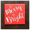 Merry & Bright Canvas Wall Dcor - image 3 of 4