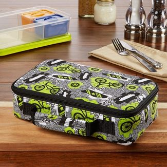 Fit & Fresh Bento Lunch Box Set with Insulated Carry Bag - Surf Sketch