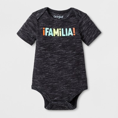 Baby  Familia  Bodysuit - Cat & Jack™ Black Newborn
