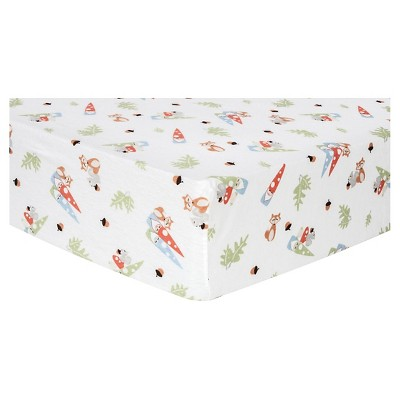 Trend Lab Deluxe Flannel Fitted Crib Sheet - Forest Gnomes