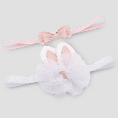 Baby Girls' 2pc Headbands - Just One You® made by carter's Pink One Size