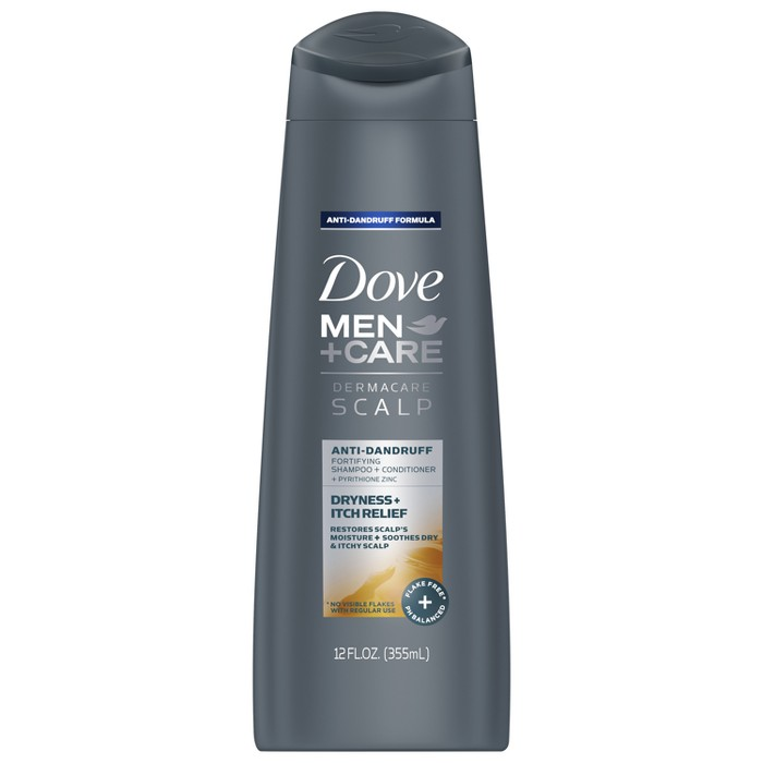 Dove Men + Care Derma Care Scalp 2-In-1 Itch Relief Shampoo and Conditioner - 12 fl oz - image 1 of 4