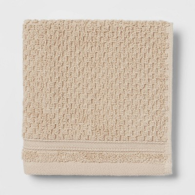 Performance Washcloth Tan Texture - Threshold™