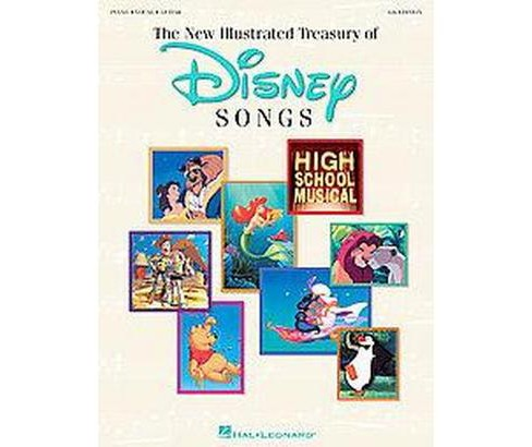 New Illustrated Treasury of Disney Songs : Piano-Vocal-Guitar (Paperback) - image 1 of 1