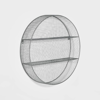 Metal Circle Shelf Pewter - Pillowfort™