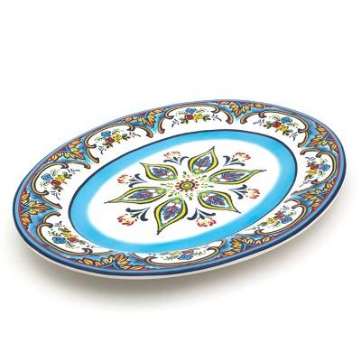 "18"" x 13"" Ceramic Zanzibar Oval Serving Platter - Euro Ceramica"