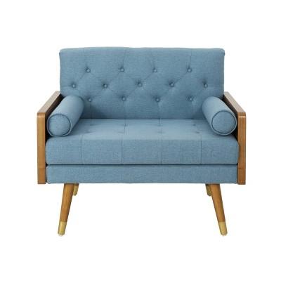 Frankie Mid Century Modern Club Chair Blue - Christopher Knight Home