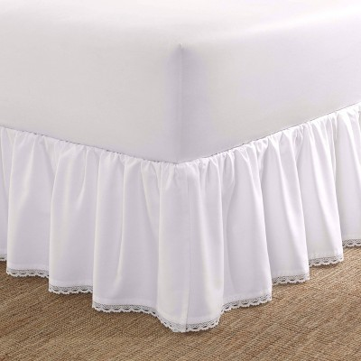 Laura Ashley Crochet Ruffle Tailored Bedskirt White