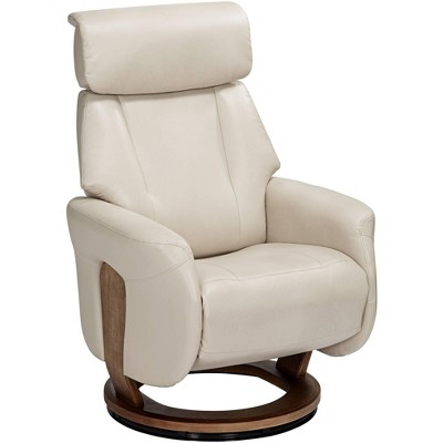 BenchMaster Augusta Taupe Faux Leather 4-Way Recliner Chair