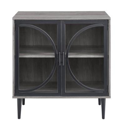 Industrial Storage Cabinet Slate Gray - Saracina Home
