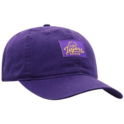NCAA LSU Tigers Men's Dez Garment Washed Canvas Hat