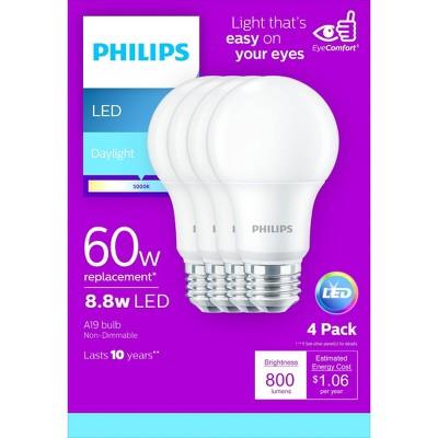 Philips Basic A19 60W E26 5000K LED Light Bub T20