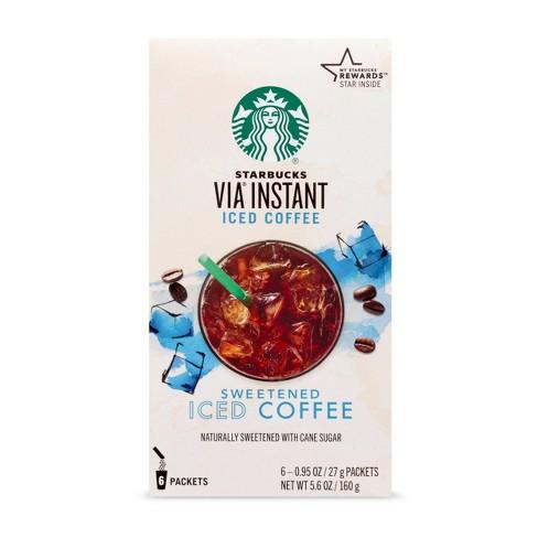 Starbucks VIA Instant Coffee Medium Roast Packets — Sweetened Iced Coffee — 1 box (6 packets) - image 1 of 4
