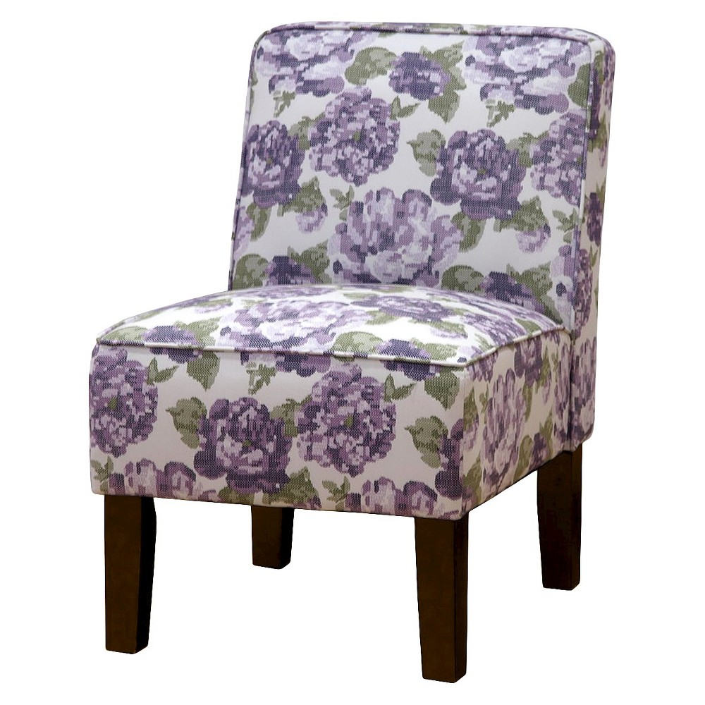 Burke Accent Print Slipper Chair - Lindani Wisteria - Threshold