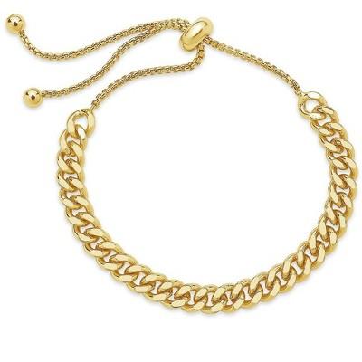 SHINE by Sterling Forever Adjustable Chain Link Bolo Bracelet