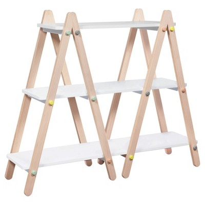 Babyletto Dottie Bookcase - White/Washed Natural