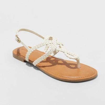 27e58f2e3538 Women s Jana Braided Thong Ankle Strap Sandal - Universal Thread™   Target