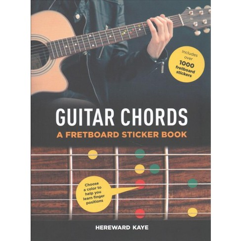 500 Guitar Chords Fretboard Sticker Book Paperback Hereward