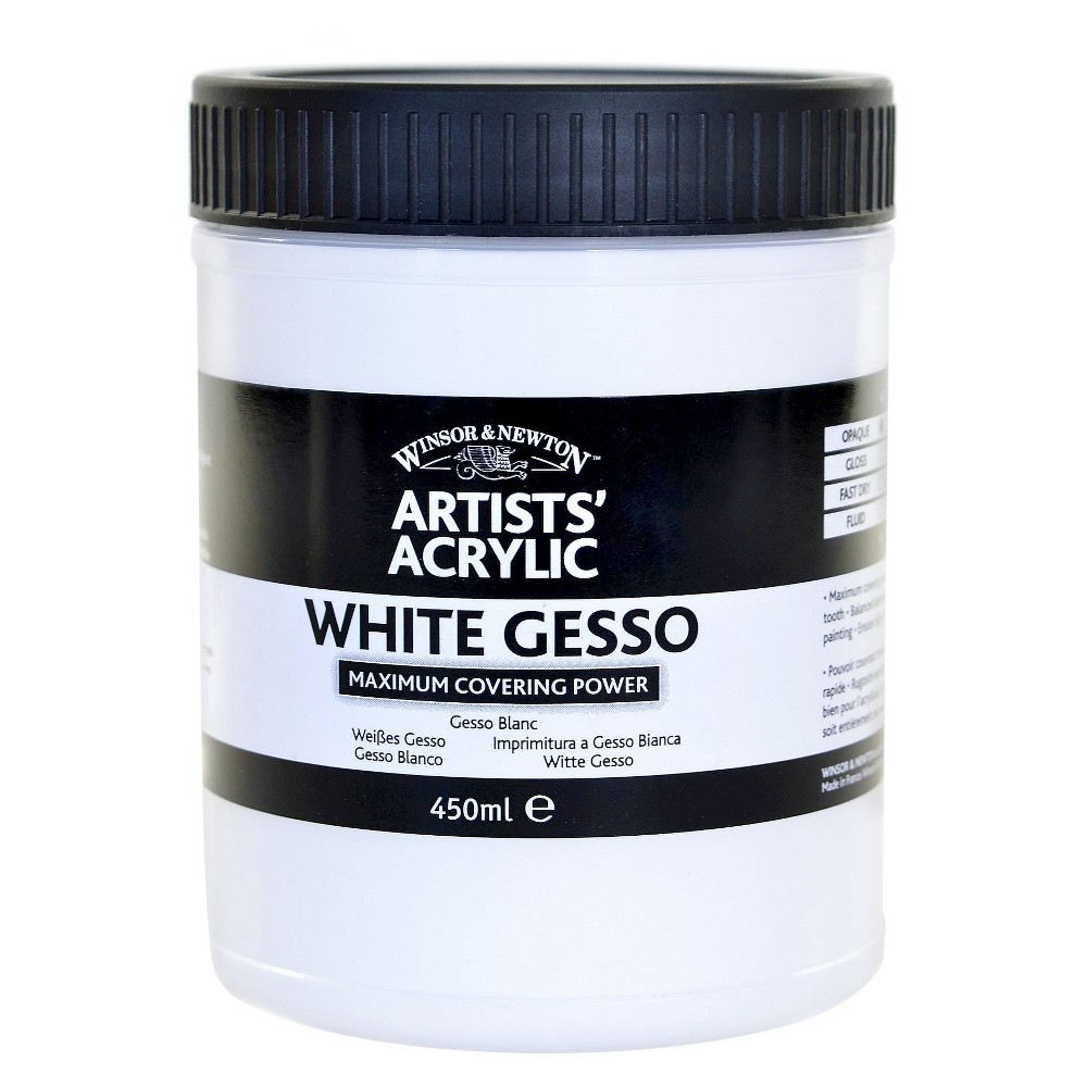 Winsor & Newton Artists' Acrylic Gesso, 450 ml, White