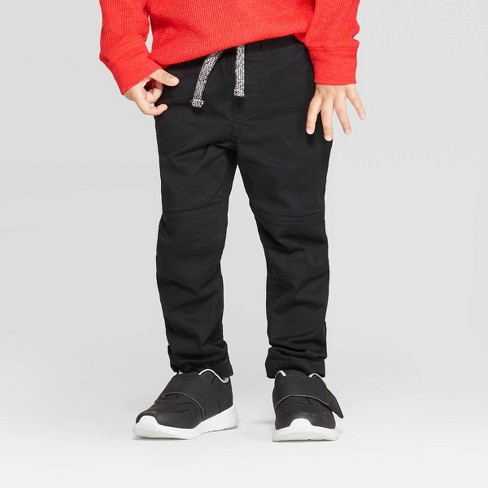 Toddler Boys' Pull-on Pants - Cat & Jack™ Black - image 1 of 3