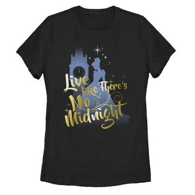 Women's Cinderella Live Like No Midnight T-Shirt
